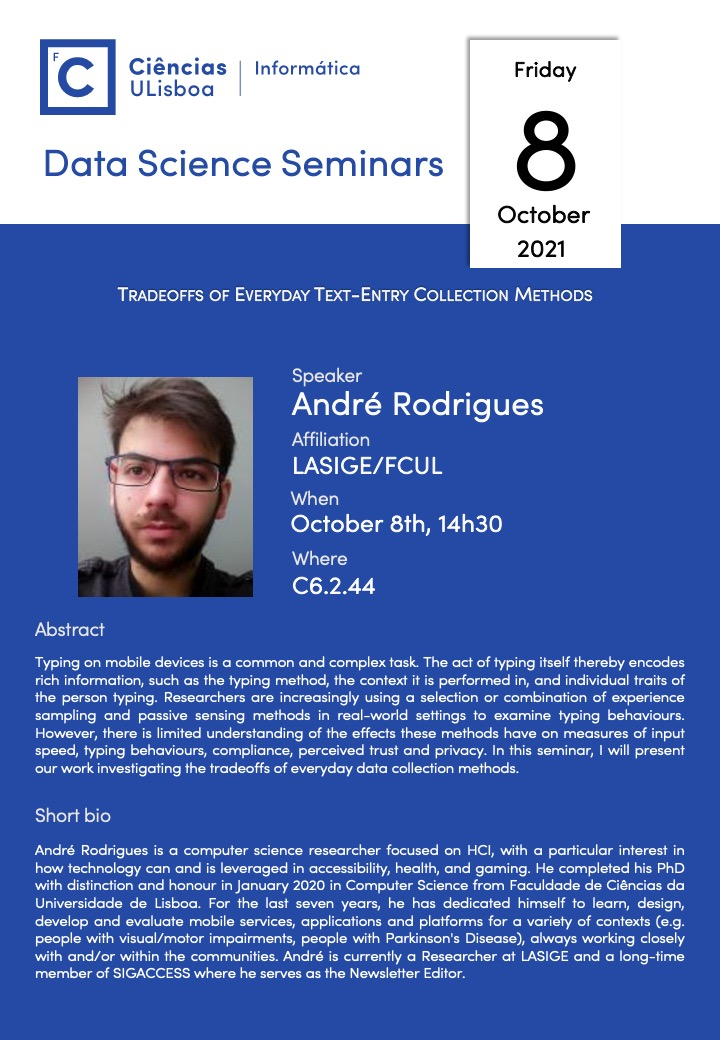 Data Science Seminars:  André Rodrigues